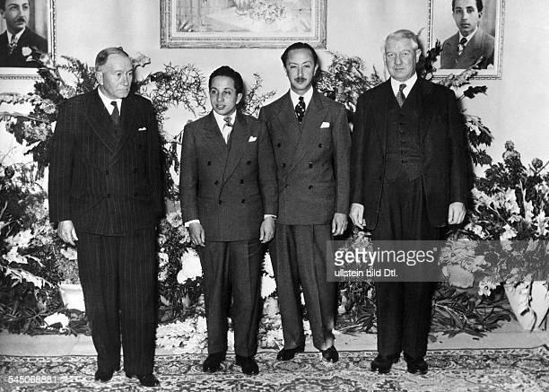 Faisal II *King of Iraq 193958Faisal II visiting the Iraq Petroleum Group of Companies in Kirkuk LR Admiral Sir John Cunningham Faisal II Emir...