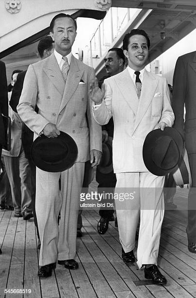 Faisal II *King of Iraq 193958with his uncle Emir AbdulIllah around 1954