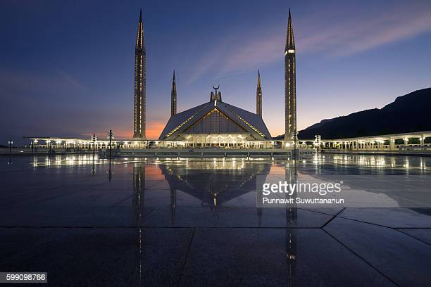 Faisal mosque at night, Islamabad