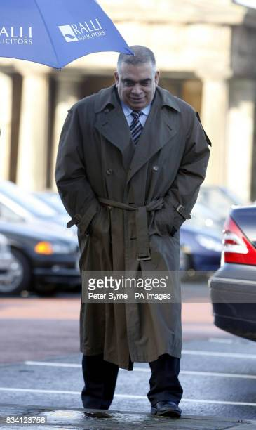 Faisel Madani a former buisness partner to the Chesterbased firm Sporting Icons Ltd arrives at Chester Crown Court this morning