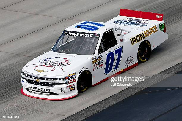 Faison driver of the Chevrolet practices for the NASCAR Camping World Truck Series at Dover International Speedway on May 12 2016 in Dover Delaware