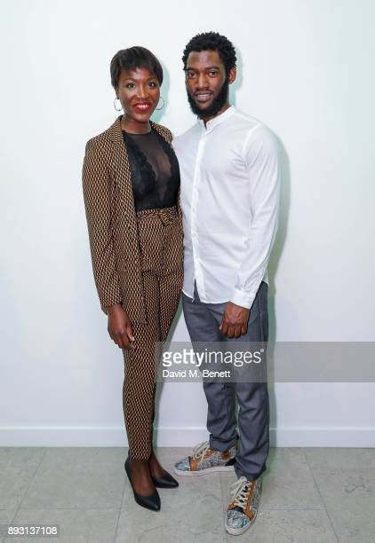 Faith Alabi and Malachi Kirby attend the press night after party for the Donmar's production of 'Belleville' at The Hospital Club on December 14 2017...