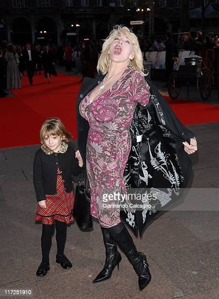 Faith Brown and guest during Miss Potter London Premiere Arrivals at Odeon Leicester Square in London Great Britain