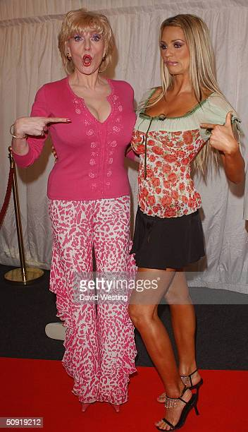 Faith Brown and Jordan arrive for the filming and second eviction of the television program Hell's Kitchen on June 2 2004 at Brick Lane in London...