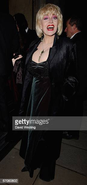 Faith Brown arrives at the Variety Club Annual Dinner Ball the 54th annual fundraiser for the charity at Grosvenor House on March 11 2006 in London...