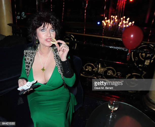 Faith Brown attends the press night of 'Thriller Live' after party at Cafe de Paris on January 21 2009 in London England
