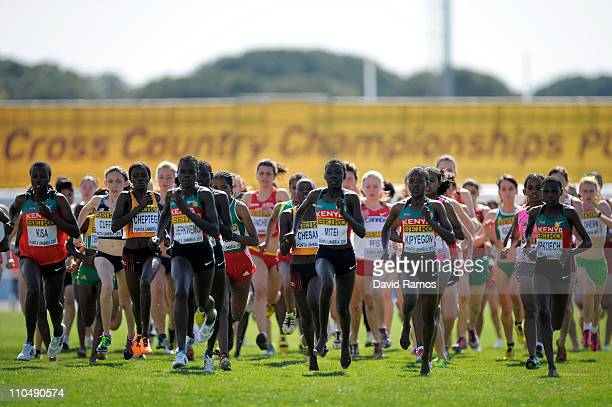 Faith Chepngetich Kipyegon of Kenya on his way to gold in the Junior Women's race during the 39th Iaaf World Cross Country Championships March 20...