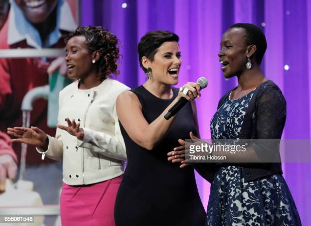 Faith Cherop Nelly Furtado and Williter Chesang attend the 8th annual Unstoppable Foundation Gala at The Beverly Hilton Hotel on March 25 2017 in...
