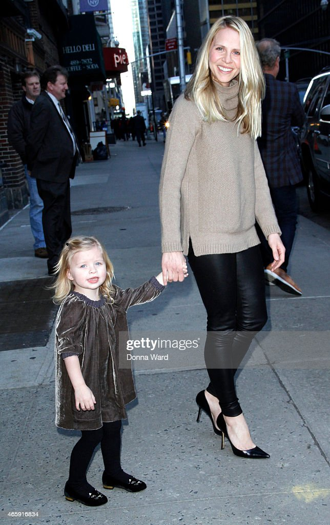 Faith Evangeline Grammer and Kayte Grammer leave the 'Late Show with David Letterman' at Ed Sullivan Theater on March 11, 2015 in New York City.