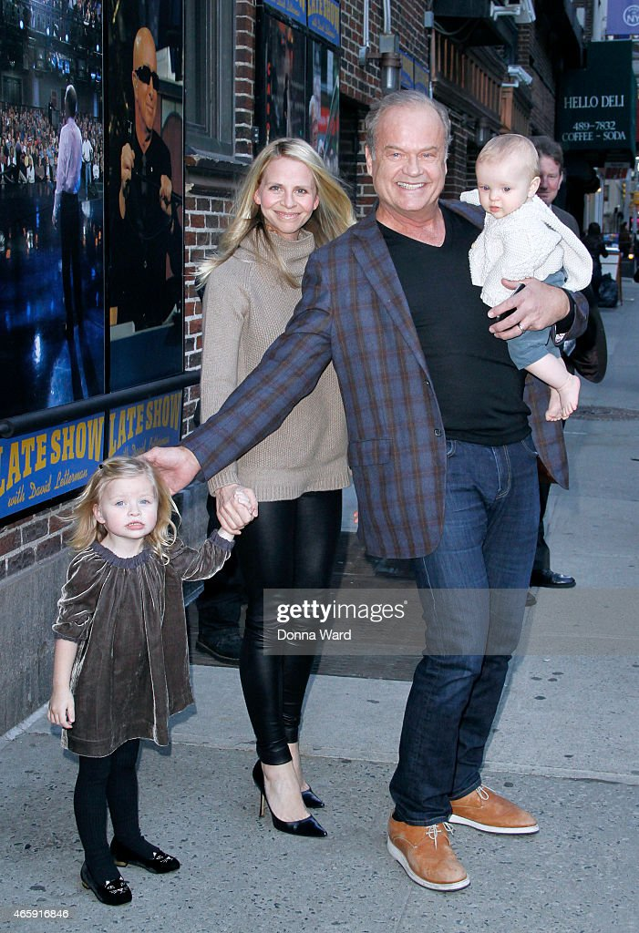 Faith Evangeline Grammer, Kayte Grammer, Kelsey Grammer and Kelsey Gabriel Grammer leave the 'Late Show with David Letterman' at Ed Sullivan Theater on March 11, 2015 in New York City.