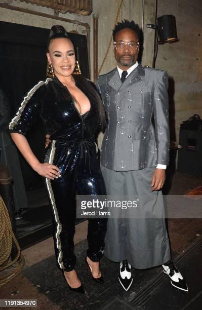 Faith Evans and Billy Porter attend AHF's free World AIDS Day 2019 concert hosted by Primetime Emmyaward winner Billy Porter at the historic Wilshire...