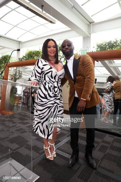 Faith Evans and BryanMichael Cox appear onstage at the Bryan Michael Cox 16th Annual Music And Memory PreGrammy Brunch 2020 at SLS Hotel on January...