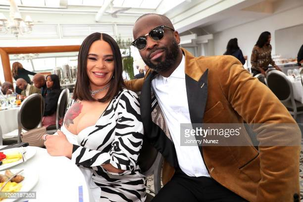 Faith Evans and BryanMichael Cox attend the Bryan Michael Cox 16th Annual Music And Memory PreGrammy Brunch 2020 at SLS Hotel on January 26 2020 in...