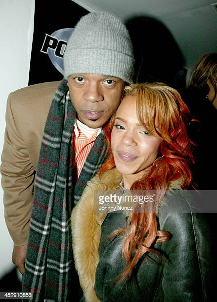 Faith Evans and guest during Power 105 FM's 3rd Anniversary Party Celebrating Notorious BIG at Exit in New York City New York United States