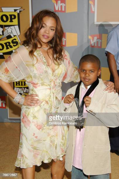 Faith Evans and her son Christopher Wallace Jr