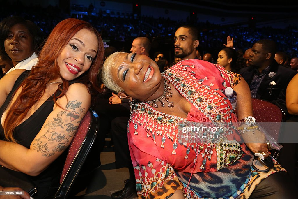 Faith Evans and Luenell attend The 2014 Soul Train Awards on November 7, 2014 in Las Vegas, Nevada.
