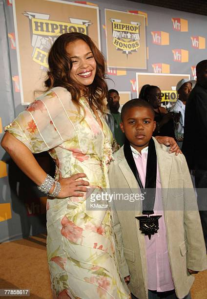 Faith Evans and son Christopher Wallace Jr
