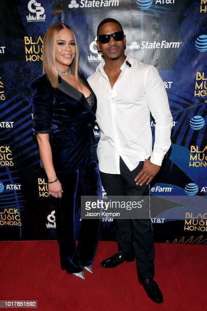 Faith Evans and Stevie J attend the 2018 Black Music Honors at Tennessee Performing Arts Center on August 16 2018 in Nashville Tennessee