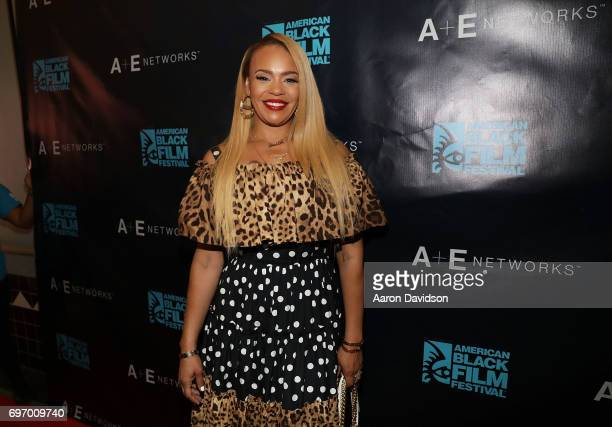 Faith Evans attends 2017 American Black Film Festival on June 17, 2017 in Miami, Florida.