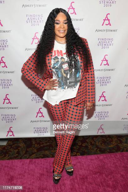 Faith Evans attends 2019 Finding Ashley Stewart Finale Event at Kings Theatre on September 14, 2019 in Brooklyn, New York.