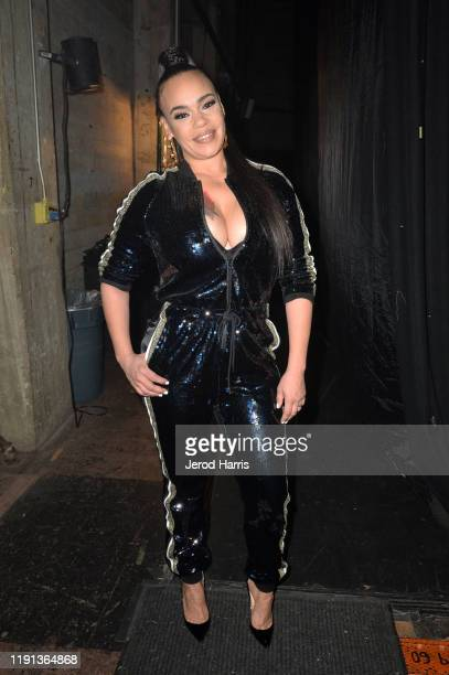 Faith Evans attends AHF's free World AIDS Day 2019 concert hosted by Primetime Emmy-award winner Billy Porter at the historic Wilshire Ebell Theatre...