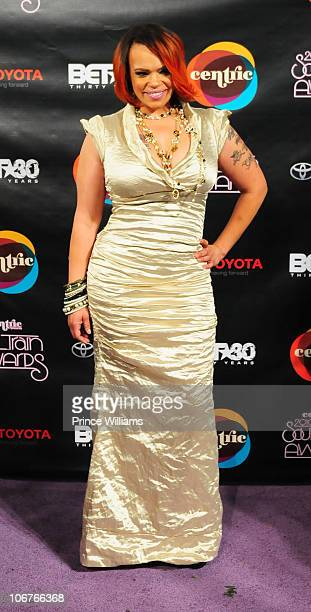 Faith Evans attends the 2010 Soul Train Awards at the Cobb Energy Center on November 10 2010 in Atlanta Georgia
