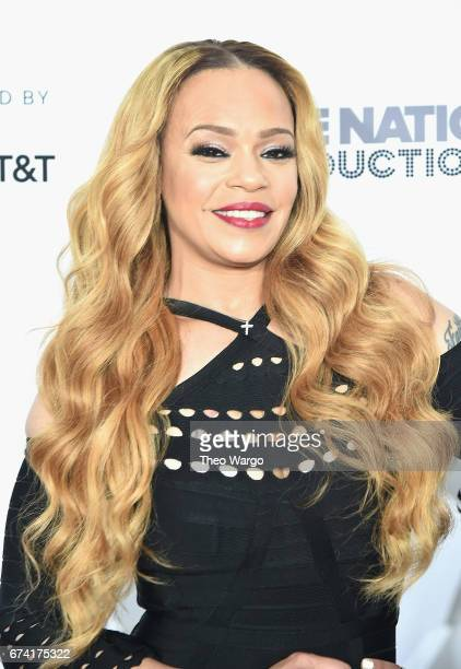 Faith Evans attends the 'Can't Stop Won't Stop The Bad Boy Story' Premiere on April 27 2017 in New York City