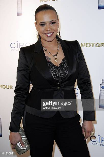 """Faith Evans attends the """"Notorious"""" Premiere After Party Presented By Ciroc at Roseland Ballroom on January 7, 2009 in New York City."""