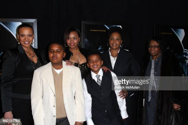 Faith Evans Christopher Wallace Jr Chyna Griffin Joshua Russaw and attend FOX SEARCHLIGHT PICTURES Presents the World Premiere of NOTORIOUS at AMC...
