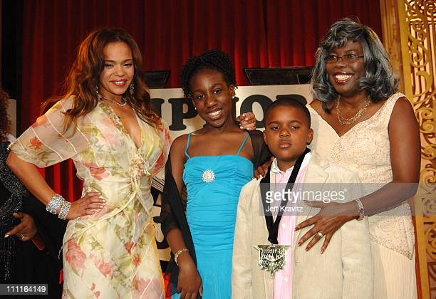 Faith Evans Chyna Voletta Wallace and Christopher Wallace Jr