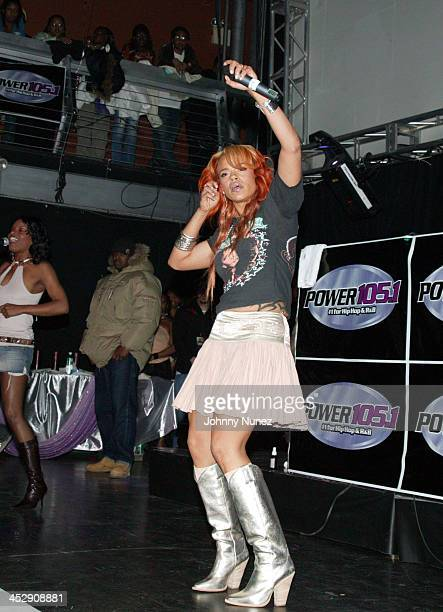 Faith Evans during Power 105 FM's 3rd Anniversary Party Celebrating Notorious BIG at Exit in New York City New York United States