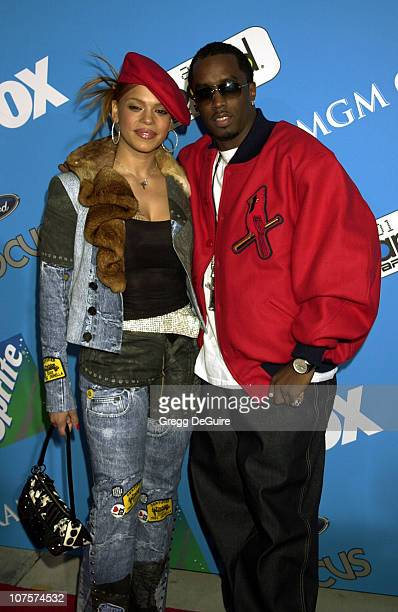 Faith Evans & P. Diddy arriving at the 2001 Billboard Music Awards in Las Vegas.
