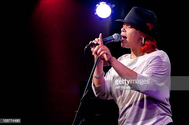 Faith Evans performs at the Power 99/WDAS FM Performance Studio on September 1 2010 in Philadelphia Pennsylvania