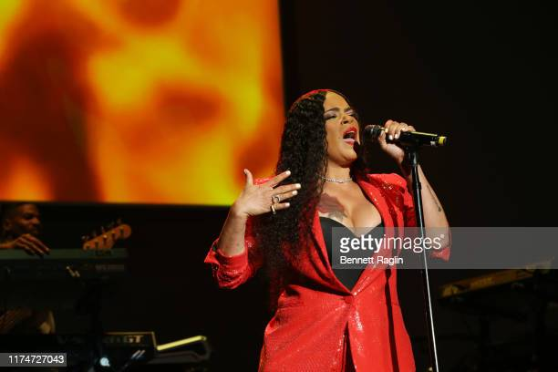Faith Evans performs onstage at 2019 Finding Ashley Stewart Finale Event at Kings Theatre on September 14, 2019 in Brooklyn, New York.