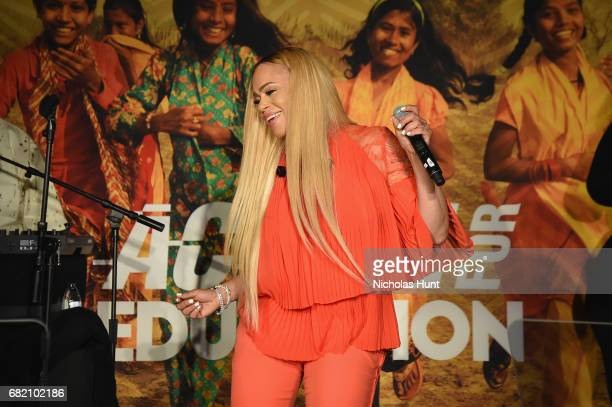 Faith Evans performs onstage at the Room to Read event honoring Sean Diddy Combs David M Solomon for Impact On Global Education at 2017 New York Gala...