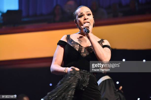 Faith Evans performs onstage during BET Presents 19th Annual Super Bowl Gospel Celebration at Bethel University on February 1 2018 in St Paul...