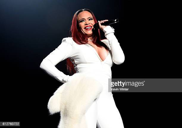 Faith Evans performs onstage during the Bad Boy Family Reunion Tour at The Forum on October 4 2016 in Inglewood California