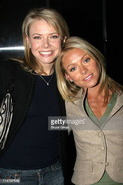 Faith Ford and Kelly Ripa **EXCLUSIVE COVERAGE** during 'The Little Dog Laughed' Opening Night at Second Stage Theatre in New York New York United...