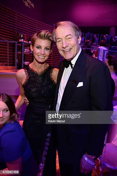 Faith Hill and Charlie Rose attend TIME 100 Gala TIME's 100 Most Influential People In The World at Jazz at Lincoln Center on April 21 2015 in New...