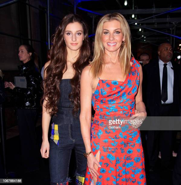Faith Hill and daughter Audrey McGraw seen outside the Versace PreFall 2019 Collection on December 2 2018 in New York City