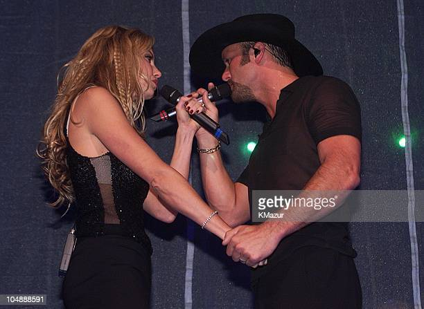 Faith Hill and husband Tim McGraw during Faith Hill MSG Concert 2000 at Madison Square Garden in New York City New York United States