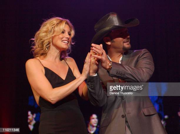 Faith Hill and husband Tim McGraw during The Andre Agassi Charitable Foundation's 9th Annual 'Grand Slam for Children' Fundraiser Show at MGM Grand...