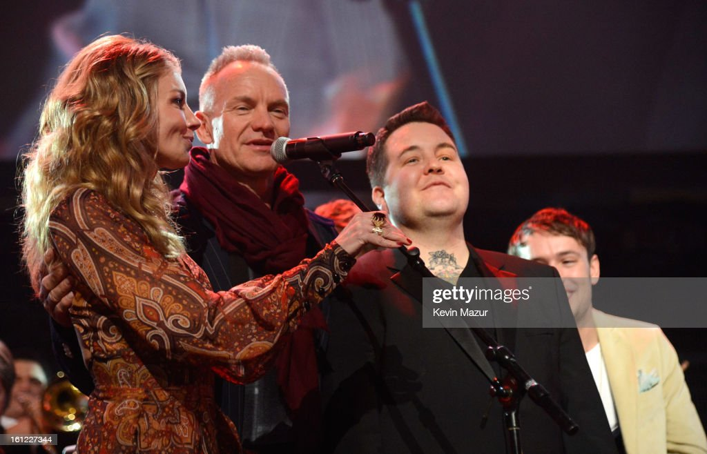 Faith Hill and Sting perform onstage at MusiCares Person Of The Year Honoring Bruce Springsteen at Los Angeles Convention Center on February 8, 2013 in Los Angeles, California.