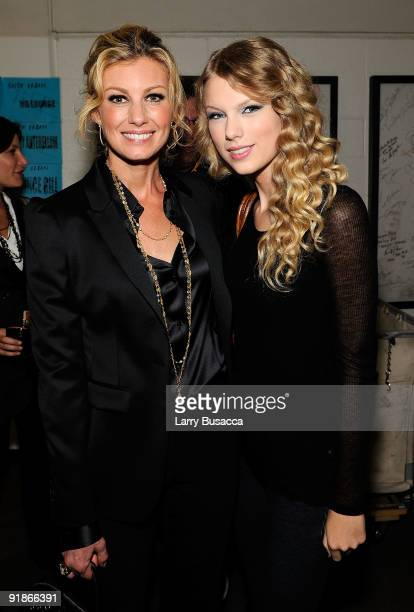 Faith Hill and Taylor Swift attend the 'We're All For The Hall' benefit concert for the Country Music Hall of Fame at the Sommet Center on October 13...