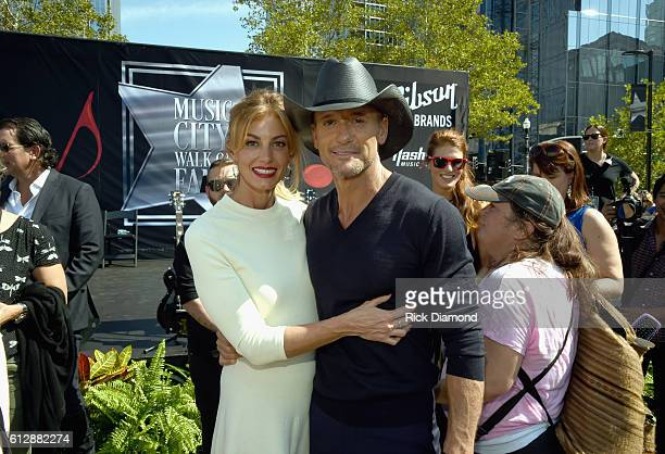 Faith Hill And Tim McGraw at the Nashville Music City Walk Of Fame Induction Ceremony at Nashville Music City Walk of Fame on October 5 2016 in...