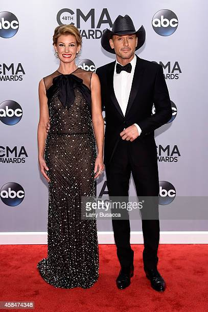 Faith Hill and Tim McGraw attend the 48th annual CMA Awards at the Bridgestone Arena on November 5 2014 in Nashville Tennessee