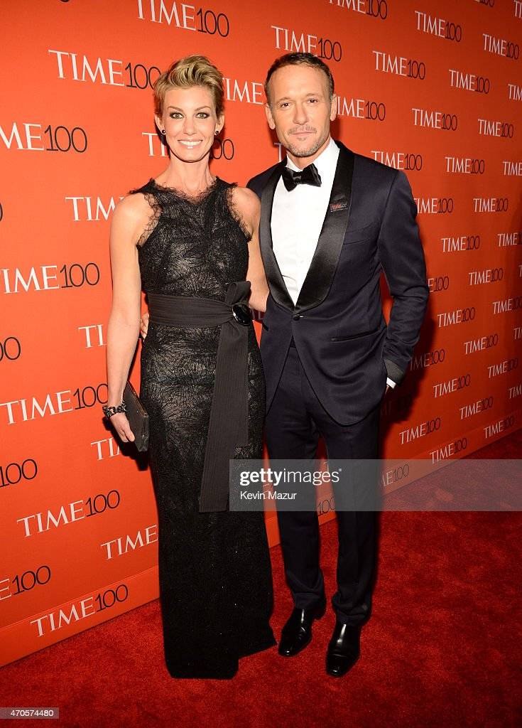 Faith Hill and Tim McGraw attend TIME 100 Gala, TIME's 100 Most Influential People In The World at Jazz at Lincoln Center on April 21, 2015 in New York City.