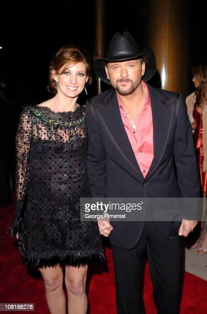 Faith Hill and Tim McGraw during Atlantic Records at Warner Music Group 2005 After GRAMMY Awards Party at Pacific Design Center in Los Angeles,...