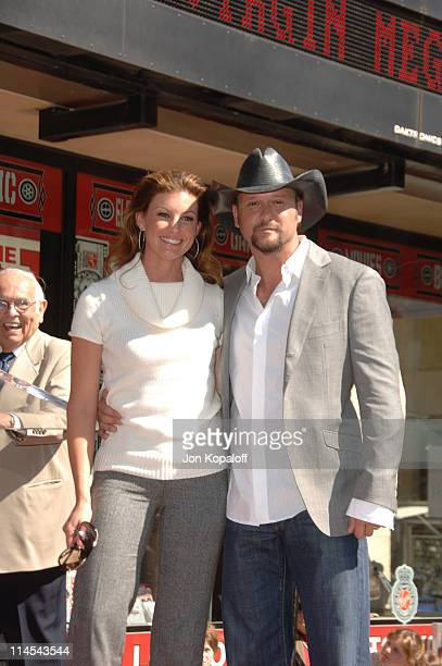 Faith Hill and Tim McGraw during Tim McGraw Honored with a Star on the Hollywood Walk of Fame at 6901 Hollywood Blvd in front of the Virgin Megastore...