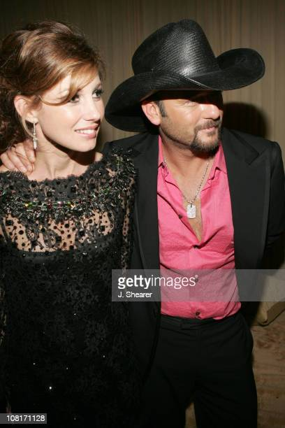 Faith Hill and Tim McGraw during Warner Music Group 2005 After GRAMMY Awards Party at Pacific Design Center in Los Angeles California United States